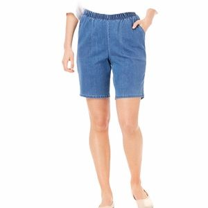 Basic Editions Stretch Pull On Jean Shorts size 1X